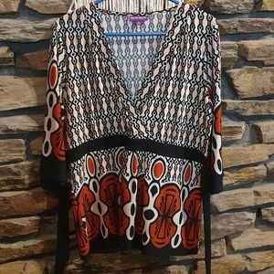 Size L Suzanne Grae 3/4 sleeve top